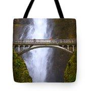 Multnomah Falls Bridge In Oregon Tote Bag