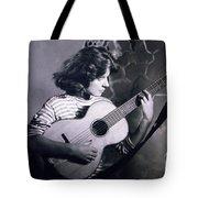 Mum Chris With Her Guitar Gitana Tote Bag