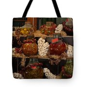 Munich Market With Pickles And Olives Tote Bag