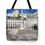 Municipal Square In Lisbon Tote Bag