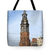 Munttoren In Amsterdam Tote Bag