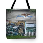 Mural Along Westerlo Avenue Tote Bag
