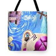Church Mural Tote Bag