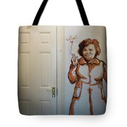 Mural Of Mccourts Mother Angela Tote Bag