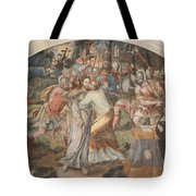 Mural Painting Abbey Fontevraud Tote Bag