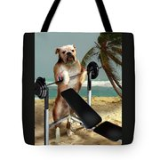 Muscle Boy Boxer Lifting Weights Tote Bag