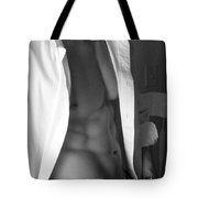 Muscled Exec II In Black And White Tote Bag