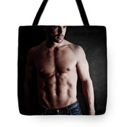 Muscular Handsome Man  Tote Bag
