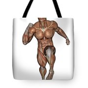 Muscular Man Running Tote Bag