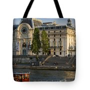 Musee D'orsay Along River Seine Tote Bag