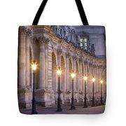 Musee Du Louvre Lamps Tote Bag