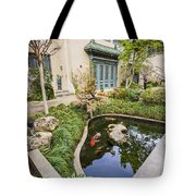 Museum Koi - Courtyard Of The Pacific Asia Museum In Pasadena. Tote Bag