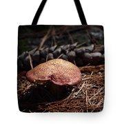 Mushroom And Pine Cone Tote Bag