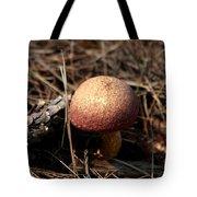 Mushroom And Pine Cone Neighbors Tote Bag