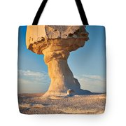 Mushroom Formation In White Desert  Tote Bag