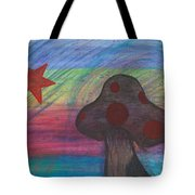Mushroom And Star Tote Bag