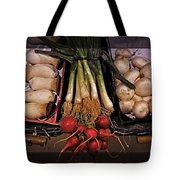 Mushrooms And Radishes Framed Tote Bag