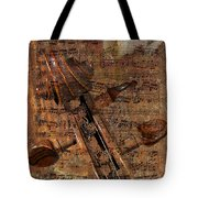 Music Collage Tote Bag