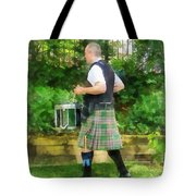 Music - Drummer In Pipe Band Tote Bag
