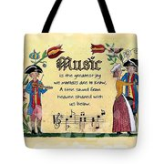 Music Fraktur Tote Bag