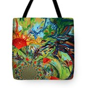 Music In Bird Of Tree Assymetrical Tote Bag