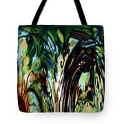 Music In Bird Of Tree Drip Painting Tote Bag