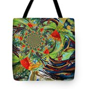 Music In Bird Of Tree Trunk Tote Bag