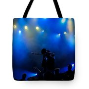 Music In Blue - Montreal Jazz Festival Tote Bag