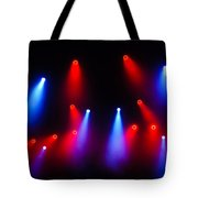 Music In Red And Blue - The Wonderful Sound Of Nightlife Tote Bag
