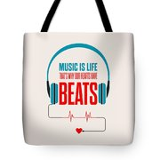 Music- Life Quotes Poster Tote Bag