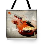 Music Lover Card Tote Bag