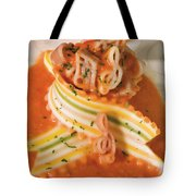 Music Notes Pasta In Vodka Sauce Tote Bag