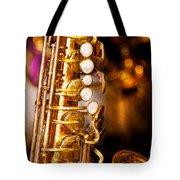 Music - Sax - Sweet Jazz  Tote Bag by Mike Savad