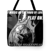 Music The Food Of Love Tote Bag