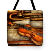 Music - Violin - Played It's Last Song  Tote Bag by Mike Savad