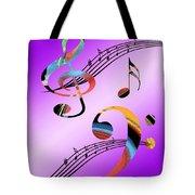 Musical Illusion Tote Bag