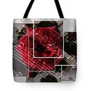 Musical Rose Montage Tote Bag