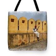 Musician - Amber Palace - India Rajasthan Jaipur Tote Bag