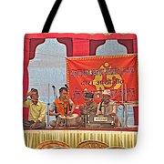 Musicians At Hindu Festival Of Ram Nawami In Kathmandu-nepal Tote Bag