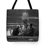 Musicians By The Pond Tote Bag