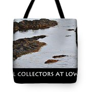 Mussel Collectors At Low Tide - Shellfish - Low Tide Tote Bag