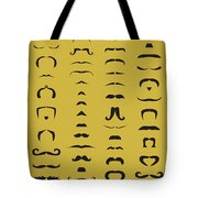Mustache Library Poster Tote Bag