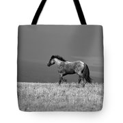 Mustang 2 Bw Tote Bag by Roger Snyder