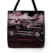 Mustang Rose Tote Bag