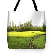 Mustard Fields In Kashmir On The Way To The Town Of Sonamarg Tote Bag
