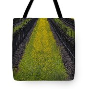 Mustard Grass In Vineyards Tote Bag