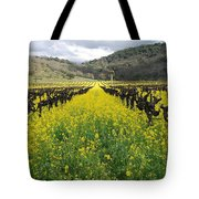 Mustard In The Vineyard Tote Bag