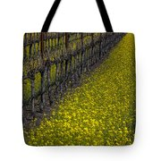 Mustrad Grass In The Vineyards Tote Bag by Garry Gay