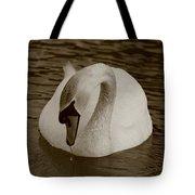 Mute Swan - In Sepia Tote Bag