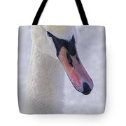 Mute Swan On Ice Tote Bag